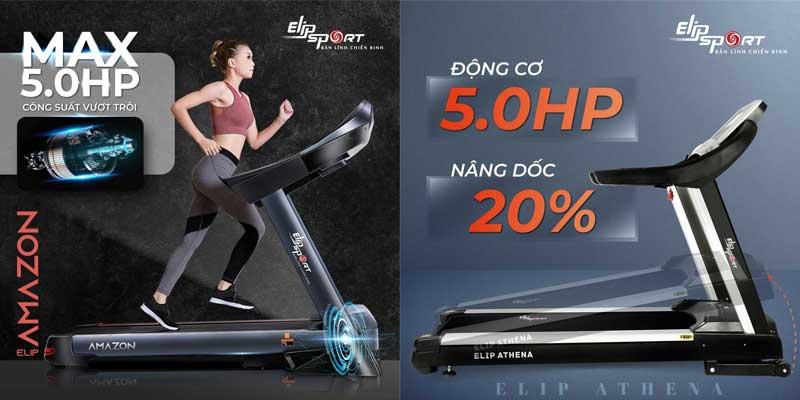 Mua máy chạy bộ điện Elip Amazon hay ELIP Athena tốt hơn?