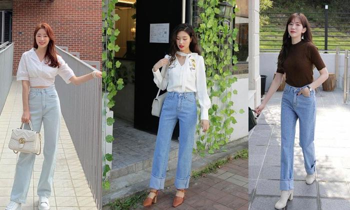10+ Cách phối đồ với quần Jean ống rộng giúp ăn gian chiều cao cho nàng